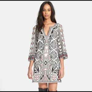 'Lowell' Embroidered Tunic Dress ALICE + OLIVIA